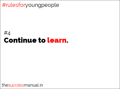 quotes for teens - continue to learn